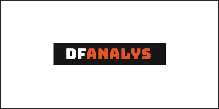 Logotyp och webbplats för DFAnalys